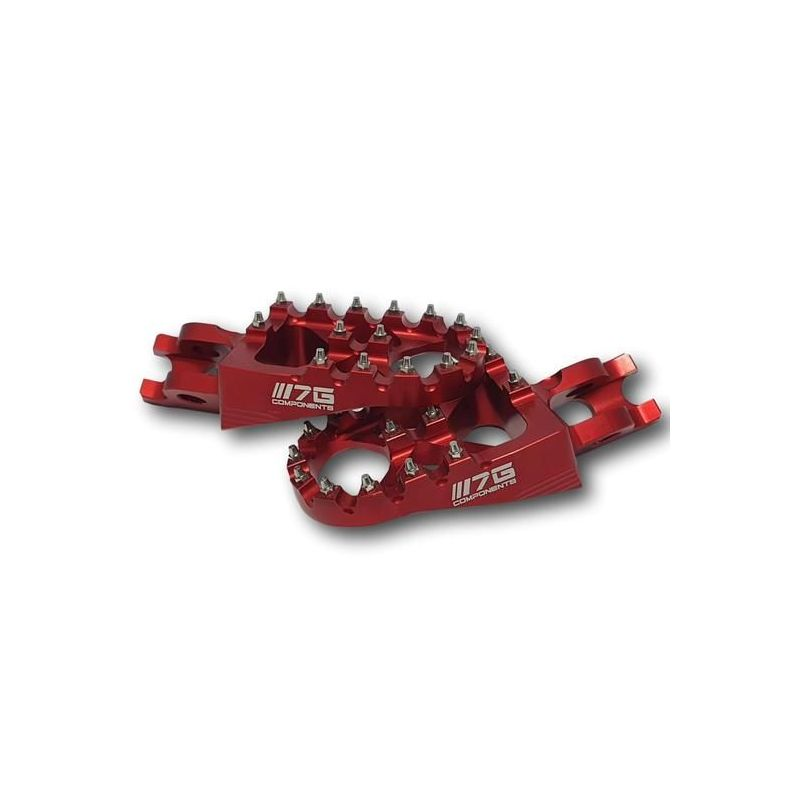 7GComponents Increased footpegs in Ergal Honda CR / CRF / Africa Twin