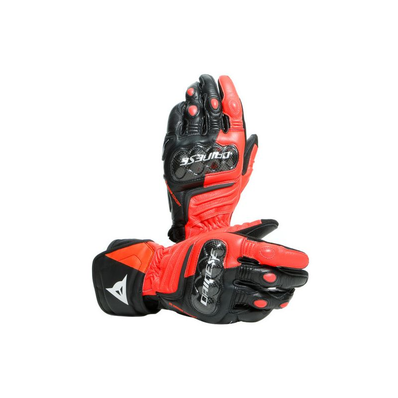 Dainese Carbon 3 long gloves black red